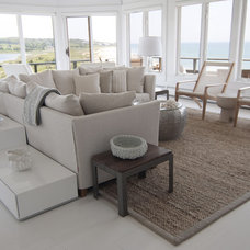 Contemporary Living Room by Martha's Vineyard Interior Design