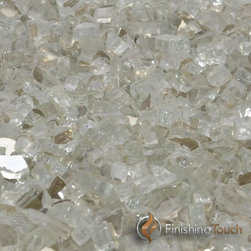 """Finishing Touch Products - 1 Pound Bag of 1/4"""" Titanium Metallic Fireglass - Contains: 1 LB Bag"""
