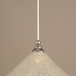 Toltec Lighting - Chrome Stem Mini Pendant with Italian Bubble Glass - - 12-Inch Italian Bubble Glass  - Bulbs not included  - Comes with 1-6-Inch, 2-12-Inch, and 1-18-Inch stem sections  - Comes with a hang straight swivel Toltec Lighting - 23-CH-441