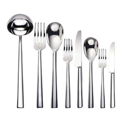 Alessi - Alessi Asta 75-pc. Cutlery Set - This impressive 75-piece cutlery set is what you showcase on Thanksgiving and during the holidays. Whether guests congregate in the kitchen or at the table, they'll notice the stellar sheen of the serving utensils and place settings.