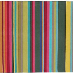 Cormac Rug | Crate&Barrel - This rainbow striped mat will add color and cheer to your kitchen. It will also make things easier on your legs and feet when you're cooking and cleaning up – I like to keep one below my sink.
