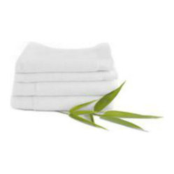 Bamboo Washcloth in White 4-PK