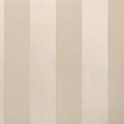Wallpaper Worldwide - Century Classic - Metallic Stripe Wallpaper, Metallic, Grey, Offwhite - Material: Non-woven