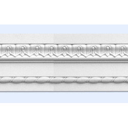 """Inviting Home - Columbia Decorative Molding - Columbia decorative molding 5-1/8""""H x 1-1/8""""P x 7'10""""L * can be used as chair-rail frieze door & window trim 4 piece minimum order required chair-rail molding specifications: - outstanding quality chair-rail molding made from high density polyurethane: environmentally friendly material is hypoallergenic and fully recyclable no CFC no PVC no formaldehyde; - front surface of this molding has extra durable and smooth surface; - chair-rail molding is pre-primed with water-based white paint; - lightweight durable and easy to install using common woodworking tools; - metal dies were used for consistent quality and perfect part to part match for hassle free installation; - this chair-rail molding has sharp deep and highly defined design; - matching flexible molding available; - chair-rail molding can be finished with any quality paints; Polyurethane is a high density material--it's extremely lightweight and easy to install (and comes primed and ready to paint). It is a green material meaning its CFC and formaldehyde free. It is also moisture resistant--so it won't shrink flex or mold. What's also great about Polyurethane is that it's completely customizable and can be treated as wood (you can saw it nail it screw it and sand it). In addition our polyurethane material comes primed and ready to paint. There is a four piece minimum requirement for this molding purchase."""