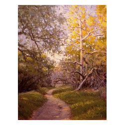 'Borrego Canyon Trail' Framed Oil Painting - Blaze your own trail with this one-of-a-kind original piece of artwork. Painted by noted artist Craig Pursley iin the plein air style, it's mounted in a gilded wood frame for a traditional touch.