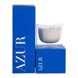Apothecary Guild Suspended Candle Jar, Azur - With a sleek modern design that fits seamlessly with your existing decor, the Apothecary Guild Suspended Candle in Azure has a light clean scent that reminds one of sailing the pacific at sunset in summer.