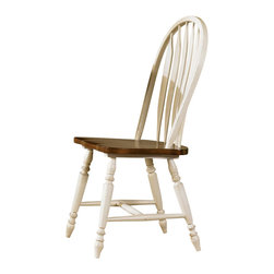 Liberty Furniture - Liberty Furniture Low Country Sand Windsor Back Side Chair  (Set of 2) - Welcome the refreshing designs of the Low Country collection into your home. With the simple elegance of gracious turned legs and flowing curves, this collection is sure to make a sophisticated statement. This collection features gathering height, formal, and casual dining groups. Select hardwoods and cherry veneers are offered in a Linen Sand with Suntan Bronze accents. What's included: Side Chair (can only be purchased in sets of 2).