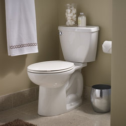 """American Standard Compact Cadet 3 Elongated 12"""" Rough - Smarter design for higher performance and fewer clogs – all at a great price. The Cadet® 3 series toilets come in a variety of styles; one piece and two piece models, elongated and round front bowls, right height and compact versions and even water efficient models that flush on just 1.28 gallons per flush. The Cadet 3 is a hard working versatile series with superior performance."""
