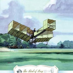 """Buyenlarge.com, Inc. - The Bird of Prey, 1906- Fine Art Giclee Print 24"""" x 36"""" - Biplanes or planes with Double sets of Wings during the period of early aviation"""