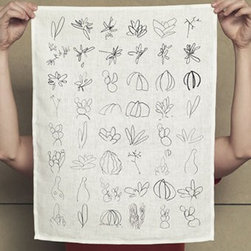 Makelike Rough Tea Towel - The Rough Tea Towel by Makelike comes from a true passion for pattern! This one–color tea towel is hand–screenprinted using water–based inks on 100% European linen.