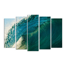 Ready2HangArt - Ready2hangart Nicola Lugo 'Blue Break' Canvas Wall Art - Renowned Surf Photographer Nicola Lugo, takes you behind the lens of his travels worldwide. This photograph is offered as part of a limited 'Home Decor' line, being the perfect addition to any living or work space.