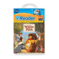 V-tech - V. Reader Cartridge in Winnie the Pooh - Full-color, animated story cartridge for use with the V. Reader. Featuring favorite character voices, the V. Reader Cartridge includes reading comprehension activities and a story dictionary to help build reading, grammar and vocabulary skills.