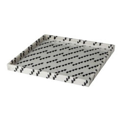 Nate Berkus Marble Print Decorative Tray, More Dots