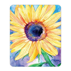 """Brazen Design Studio - Mousepad - Sunflower Painting - Art for Home - Spice up your desk or work areas with this beautiful and colorful piece of art on a mouse pad! These mouse pads are top-quality and measure approximately 9.25"""" by 7.75"""" and 1/4"""" thick with a rubber base. They are heavy duty and meant to last."""