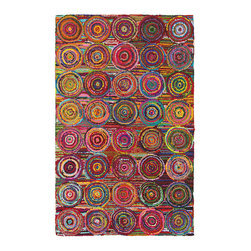 None - LNR Home Layla Multi-colored Abstract Area Rug (7'9 x 9'9) - Made from 100-percent natural fibers,this rug is a versatile,stylish,and environmentally conscientious choice. Elegant,naturally durable,feels soft on bare feet.