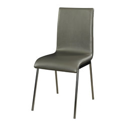 Powell - Powell Putnam Side Chairs (Pack of 2) X-694-502 - A stylish dining complement in modern, contemporary design with the sleek Putnam Dining Chair. The chair features a sturdy chrome metal frame with a slim waterfall silver metallic faux leather profile. Pairs handsomely with the Putnam Dining Table for a modern masterpiece. The cool chrome finish of the Putnam chair will complement a range of decor colors. Some Assembly Required.