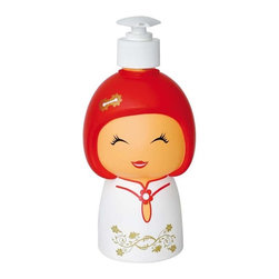 Chidolly Soap Dispenser in Chinese Doll Shape - This is modern soap dispenser modeled to resemble a Chinese doll. Will look great in any bathroom or kitchen also brings a beautiful cultural accent to your daily routine.