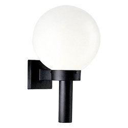 Progress Lighting - Progress Lighting P5636-60 1-Light Wall Lantern - Progress Lighting P5636-60 1-Light Wall Lantern with White Shatter-Resistant Acrylic Globe