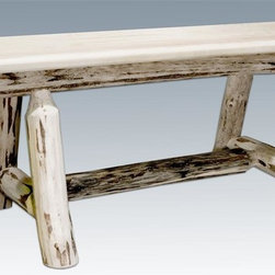 Montana Woodworks - Montana 45 in. Plank Style Bench (Lacquer) - Finish: LacquerUnique design. Warranty: 20 year limited. Made from solid american grown wood. Hand-crafted in the US, each Montana Woodwork product is made from unprocessed, solid wood that highlights the character of its source tree with unique knots and grains. No assembly required. 45 in. L x 12 in. W x 18 in. H (32 lbs.)Plank style bench is just the right size to accompany the vastly popular Montana Woodworks. Mix and match with dining side chairs or use it in the hall or foot of the bed for easy, comfortable seating.
