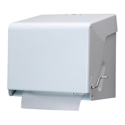 SAN JAMAR - CRANK ROLL TOWEL CABI ET WHITE - Rugged, 20-gauge steel construction with white enamel finish. Holds rolls up to 9-in.w x 73/4-in.dia. 11w x 81/2d x 101/2h.. . . . . . . White. Crank Roll Towel Dispenser. Dimensions: Height: 1.11583, Length: 0.91833, Width: 0.7875. Country of Origin: CN   CAT: Paper & Dispensers Dispensers Dispensers