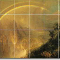 Picture-Tiles, LLC - Rainy Season In The Tropics Tile Mural By Frederic Church - * MURAL SIZE: 48x72 inch tile mural using (24) 12x12 ceramic tiles-satin finish.