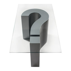 Bahia Style - WHY Cocktail Table, Silver Linings - Questions are sometimes more interesting than answers. So question everything: Why? What? How? Huh?