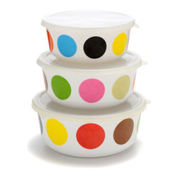Multidot Storage Container Set by French Bull - I love everything French Bull does with melamine, and these nesting storage containers are a perfect summertime picnic staple.