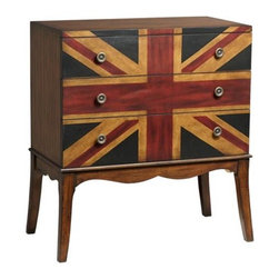 Kensington Union Jack 3-Drawer Chest - This hand-painted chest is great for storing your best silver, unmentionables or tea set.