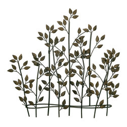 Welcome Home Accents - Foliage Wall Art - Metal wall art features leaves and branches finished in a dark bronze with gold highlights. Branches are layered for a 3D effect. Hook on back for easy hanging. Dust with a dry cloth.