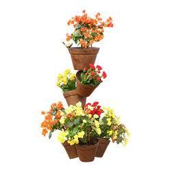 "SPI - Precarious Planter Stand - -Size: 31.5"" H x 14"" W x 13"" D"