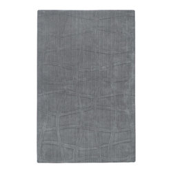 Surya - Surya Sculpture Solids and Borders Rectangle Gray 2' x 3' Area Rug - Striking and sophisticated, the rugs of the Sculpture Collection utilize the art of surface carving to reveal elegant pattern and textural energy. Created by respected interior designer Candice Olson, each rug is an artistic representation of ultimate luxury and simplicity. Hand-woven from 100% Wool, they make the ideal addition to any transitional or contemporary interior. Rug Measurements are: 2' x 3', Rug is made of: 100% Wool, Color is: Gray.
