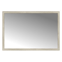"""Posters 2 Prints, LLC - 63"""" x 43"""" Libretto Antique Silver Custom Framed Mirror - 63"""" x 43"""" Custom Framed Mirror made by Posters 2 Prints. Standard glass with unrivaled selection of crafted mirror frames.  Protected with category II safety backing to keep glass fragments together should the mirror be accidentally broken.  Safe arrival guaranteed.  Made in the United States of America"""