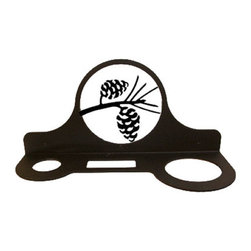 Village Wrought Iron - Village Wrought Iron HD-89 Pinecone Hair Dryer Rack - Decorative, functional and long lasting handcrafted products for your home carefully made using the finest materials and time-tested methods of craftsmanship. Quality and durable coated products have a baked on powder coating to ensure that you may enjoy each piece for many years. Toilet Tissue Holder Measurements Are Approximate. Proudly crafted in the USA. Material is Handcrafted Iron. Finish is a Flat Black Powder Coated Iron for that long lasting appeal. Dimensions are approximately: 11 In. W x 5 In. H x 4 In. D. Openings are 1 1/2 In Round 2 1/2 In. x 1 In. Rectangle 2 3/4 In. Round. Silhouette Sizes Vary Slightly. Proudly crafted in the USA