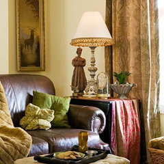 traditional family room by Charmaine Manley Design