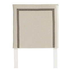 Squire Headboard Slipcover, Greek Key