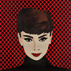 Audrey Hepburn - Skyline Art Prints