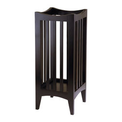 Winsome Wood - Winsome Wood Portland Umbrella Stand with Cappuccino Finish X-11104 - A perfect unit to drop off your umbrella in your hall way or mudroom.  Sleek contemporary design makes this a great d&#233:cor to any home.  Assembly Required