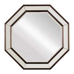 Stanley Furniture - Stanley Furniture Hudson Street Dark Espresso Octagonal Mirror - Stanley Furniture - Mirrors - 7121331
