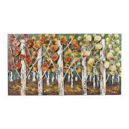 Joshua Marshal - Autumn Birch-Autumn Birch Metal Wall Decor - Autumn Birch-Autumn Birch Metal Wall Decor