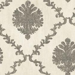 Textured Frame Motif Wallpaper -