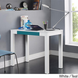 Altra - Altra Parsons Desk with Drawer - Simple and minimal,this eye catching desk is one-of-a-kind with it's sleek finish and contemporary appointments. Perfect in any room you need a surface area,the drawer holds items that you need to get work done.