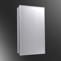 Ketcham - Ketcham 16W x 36H-in. Euroline Partially Recessed Medicine Cabinet - 129PE-PR - Shop for Bathroom Cabinets from Hayneedle.com! Needing a mirror and proper storage now shouldn't mean that you can't add more later. The Ketcham 16W x 36H-in. Euroline Partially Recessed Medicine Cabinet's European-style hinges pivot the door over the body making it the ideal choice for those who want the option of tandem installation of multiple cabinets or cabinets and wall mirrors. Of course with its recessed design the Euroline looks like any ordinary hanging mirror at a glance but one gentle push releases the touch latch magnet to reveal hidden storage space. This medicine cabinet is full of pleasant surprises but the one thing that won't come as a shock is the tried and true Ketcham construction. The medicine cabinet is fabricated with 20-gauge white baked enamel steel and features 3/16-inch first quality plate glass for the mirror and .25-inch adjustable glass shelves mounted on locking clips. Your very own choice of beveled edge polished edge and stainless steel frame mirror style is available and the entire unit can be reversed during the mounting process to meet your preference of a left or right-handed swing. Measures 16W x 3D x 36H inches.About Fred Silver & CompanyFor the past 40 years Fred Silver & Company has manufactured goods under the Ketcham name and in that time the brand has become a leading producer in superior quality affordable medicine cabinets. Based out of Ronkonkoma New York but respected from coast to coast Ketcham is an American company that's taken the nation by storm. Good word of mouth has made Ketcham the go-to choice for architects remodelers and property managers. Even everyday customers are paying close attention to these fine cabinets that are made to last and to fit the budget of the average family. Ketcham prides itself on offering an expansive selection made from the best materials backed by a staff that's always available to answer inqu