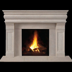 Brighton Stone Fireplace Mantel - An instant fireplace upgrade, the Brighton stone mantel is a stunner. Available in a number of stone finishes and sizes, it's the perfect room centerpiece.