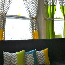 Modern Curtains by Emily Gartner Designs