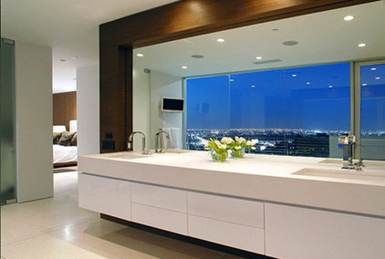 Glass Walls and soffit lights