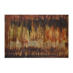 Uttermost - Misty Views Canvas Wall Art - Add fresh-off-the-easel appeal to your favorite setting. This unframed, hand-painted work on stretched canvas features bold strokes in rich earth tones to add dynamic intrigue to your decor.