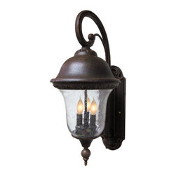 Special Lite - Special Lite F-3821 Beaumont 3 Light 26 Inch Tall Outdoor Wall Sconce - Special Lite F-3821 Beaumont Three Light 26 Tall Outdoor Wall SconceFeaturing delicate French neoclassical themes, the Beaumont 26 inch tall top mount wall sconce features intricate floral motifs, delicate scrolled arms, and gorgeous bell shaped glass for an elegant addition to the exterior of any home.Special Lite F-3821 Features: