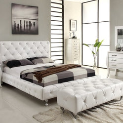 Unique Leather Elite Platform Bedroom Sets