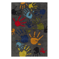 Momeni - Momeni Lil Mo Whimsy Lmj17 Grey Rug - Lmojulmj17Gry3050 - Forest critters, retro robots and mod flowers, oh my! Quirky motifs combine to put 'Lil Mo Whimsy in a class by itself. Hand-tufted of soft mod-acrylic, this collection features hand-carving for added texture and a vibrant color palette to make it as fun as it is unique.