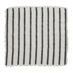 Cricket Radio - Alexandria Stripe Napkin, Set of 2, Oyster/Charcoal - Whether you fold them, fan them or turn them into fancy flowers, these napkins will add style and color to your table. Made of soft Italian linen, each set of two 19-inch-square napkins features a hand-printed stripe pattern in your choice of color combinations.